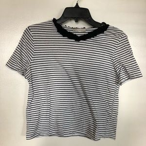 Striped Zara crop top